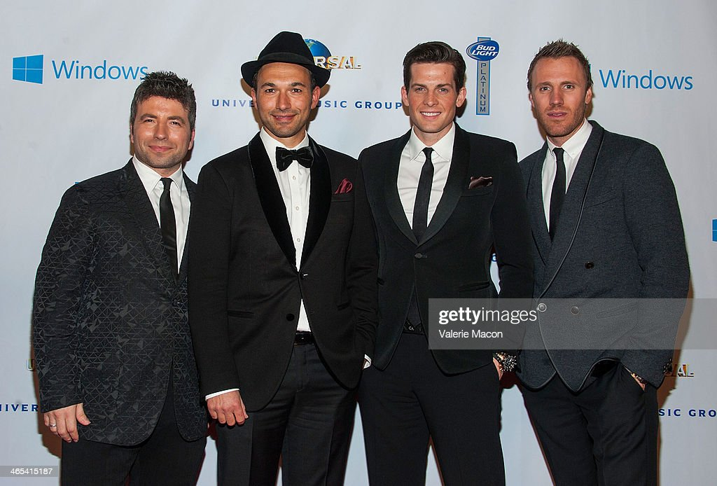 The Tenors arrive at the Universal Music Group 2014 Post GRAMMY Party at The Ace Hotel Theater on January 26, 2014 in Los Angeles, California.