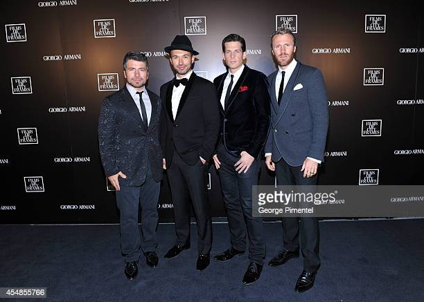 The Tenors attend the Giorgio Armani Presents Films Of City Frames With Exclusive Cocktail Party At The CN Tower during the 2014 Toronto...