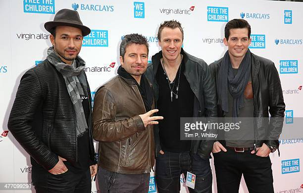 The Tenors attend We Day UK a charity event to bring young people together at Wembley Arena on March 7 2014 in London England