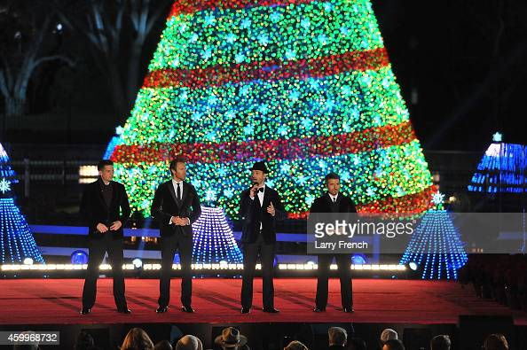 The Tenors perform at the National Park Foundation and Google's 'Made with Code' National Christmas Tree Lightening Ceremony on December 4 2014 in...