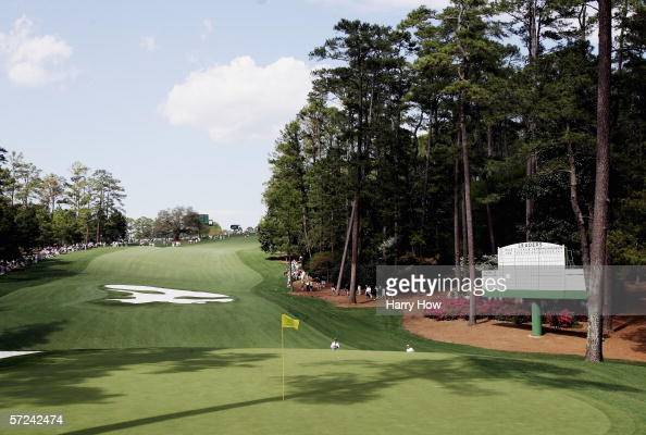 The tenth hole is shown during practice for The Masters on April 3 2006 at the Augusta National Golf Club in Augusta Georgia