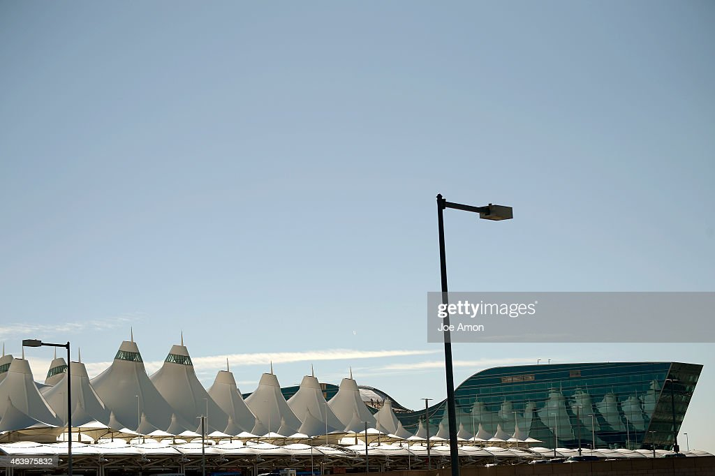 The 'tents' reflected on the Denver Airport Westin at the Denver International Airport February 20 2015 Denver CO