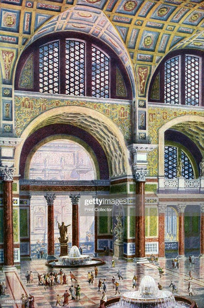The Tepidarium Of The Baths Of Caracalla, Rome, Italy, 1933 1934.
