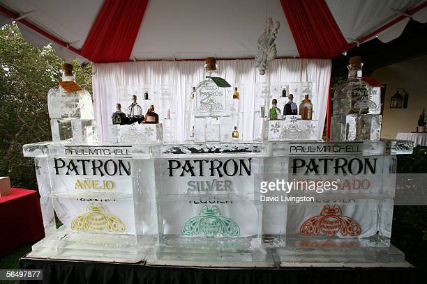 The tequila ice bar at the home of John Paul DeJoria CEO and cofounder of John Paul Mitchell Haircare Systems for his annual party to thank movie...