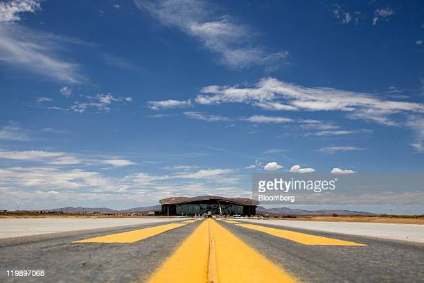 The Terminal Hangar Facility at Spaceport America stands in Sierra County New Mexico US on Thursday July 14 2011 The future home of Virgin Galactic...