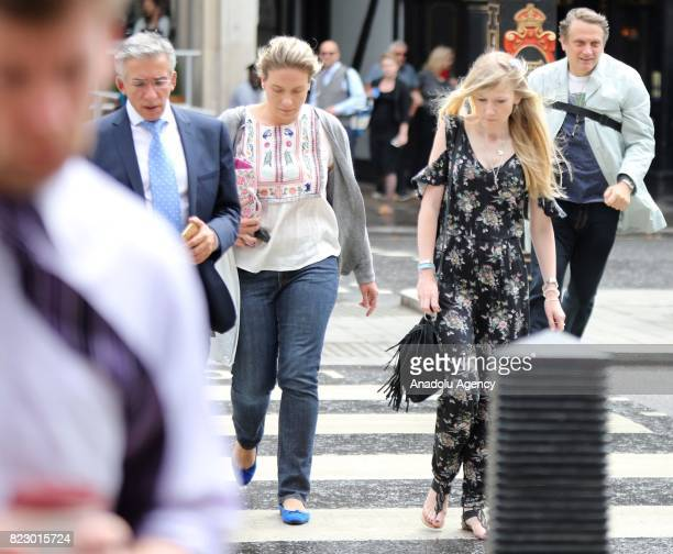 The terminally ill baby Charlie Gard's mother Connie Yates arrives at Royal Courts Of Justice in central London United Kingdom on July 26 2017