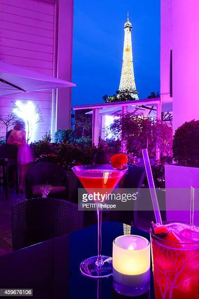 the terraces of Parisian restaurants on July 30 2014
