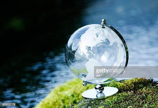 The terrestrial globe of the waterside