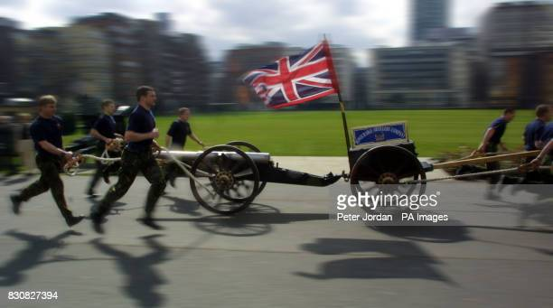 The Territorial army regiment the Honourable Artillery Company which will attempt to pull a 2000 lbs artillery field gun and a limber carriage for a...