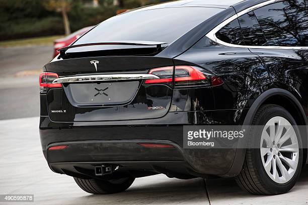 The Tesla Motors Inc Model X sport utility vehicle is displayed during an event in Fremont California US on Tuesday Sept 29 2015 Elon Musk handed...
