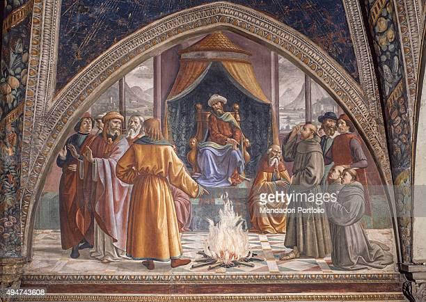 The Test of Fire by Domenico Ghirlandaio 14821486 15th Century fresco Italy Tuscany Florence Church of Santa Trinita Sassetti Chapel Whole artwork...