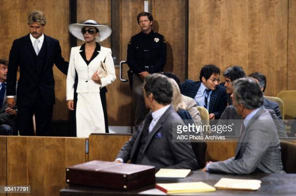 DYNASTY 'The Testimony' Season One 4/20/81 Andrew and Blake watched as Jake Dunham called a new witness Blake's first wife Alexis to the stand