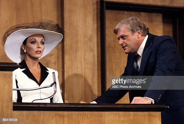DYNASTY 'The Testimony' Season One 4/20/81 Andrew and Blake watched Jake Dunham question his witness Blake's first wife Alexis on the stand