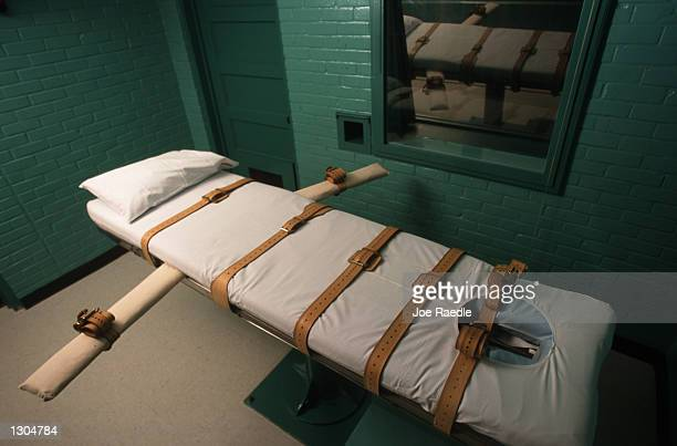 The Texas death chamber in Huntsville TX June 23 2000 where Texas death row inmate Gary Graham was put to death by lethal injection on June 22 2000