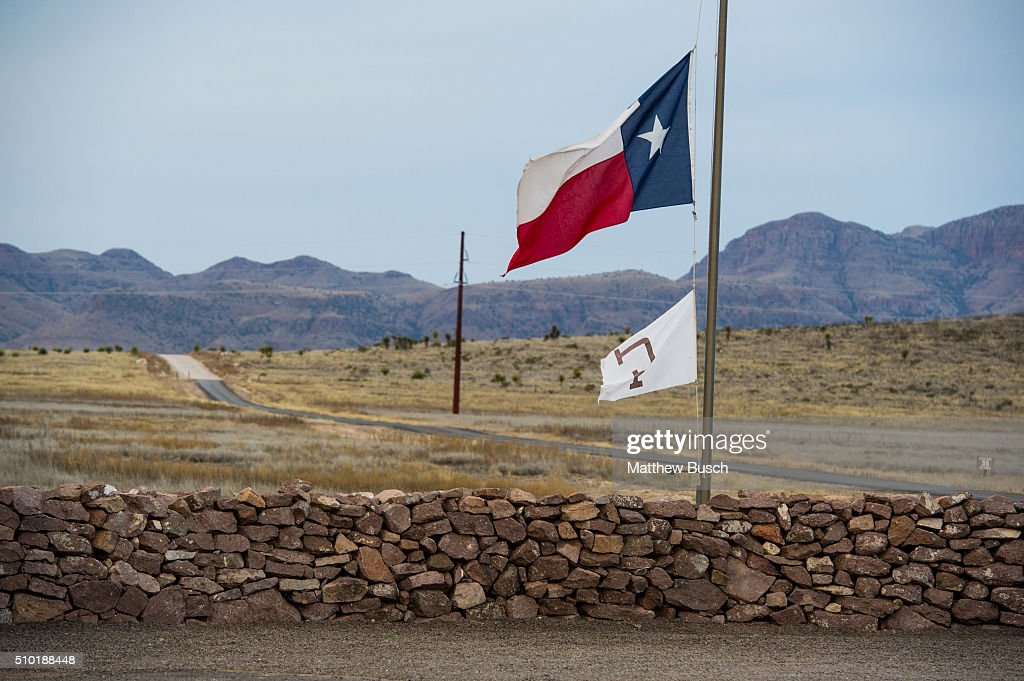 The Texas flag flies at half mast on Sunday at the Cibolo Creek Ranch, the day after the death of Supreme Court Justice Antonin Scalia February 14, 2016 in Shafter, Texas. Supreme Court Justice Antonin Scalia was at a Texas Ranch Saturday morning when he died at the age of 79.