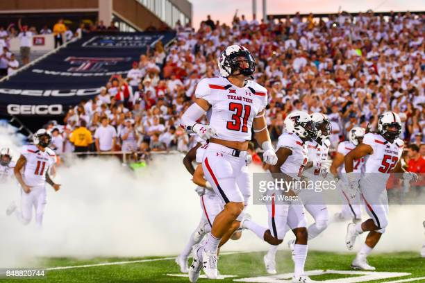 The Texas Tech Red Raiders take the field prior to the game between the Texas Tech Red Raiders and the Arizona State Sun Devils on September 16 2017...