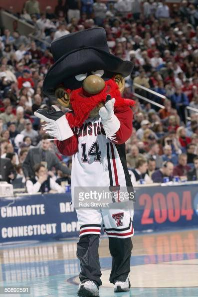 The Texas Tech University Red Raiders mascot performs during an intermission in the second round of the NCAA Men's Basketball Championships game...