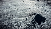 The texture of the lunar surface. Mysterious patterns, mystery and lack of knowledge