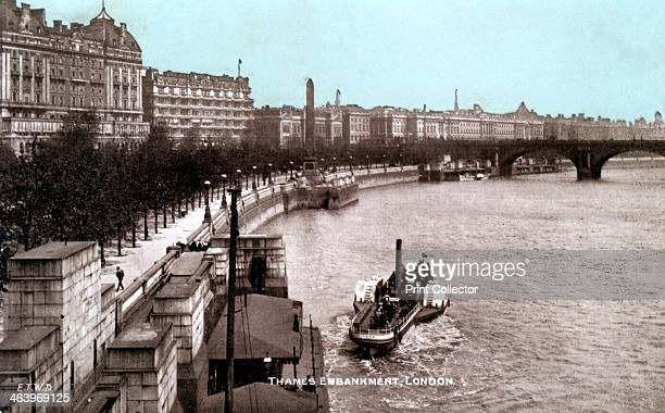 The Thames Embankment London early 20th century