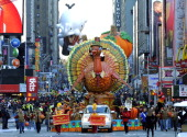 The Thanksgiving Turkey float during the 85th Macy's Thanksgiving Day Parade in New York November 24 2011 The parade which has been an annual event...