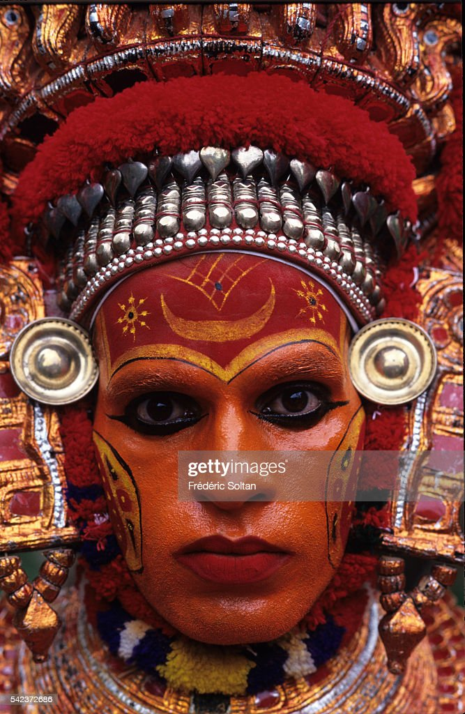 The Theyyam is an invocation and a ritual dance performed in the villages during the dry season. Theyyam also refers to the men who practice the rite. People consider Theyyam to be Gods and seek blessings from them. | Location: North Kerala, India.