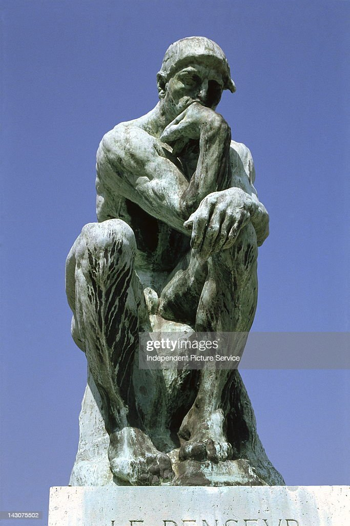 The Thinker bronze sculpture by Auguste Rodin at the Musee Rodin Paris