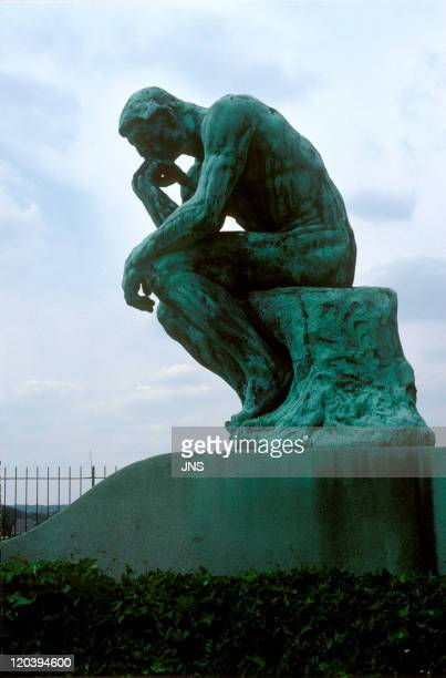The thinker sculpture of Rodin in France Exhibited at the Rodin Museum in Meudon