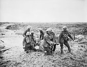 The Third Battle Of Ypres 31 July 10 November 1917 Battle of Pilckem Ridge 31 July 2 August stretcher bearers struggle in mud up to their knees to...