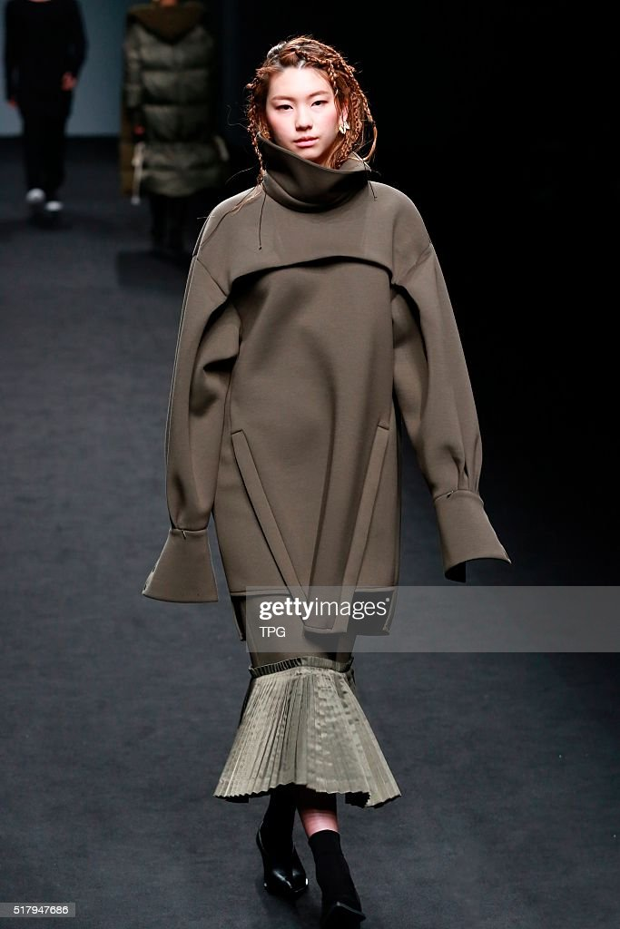 The third day of Seoul fashion week BYUNGMUN SEO fashion show on 25th March 2016 in Seoul South Korea