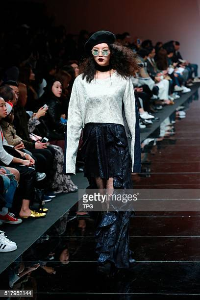 The third day of Seoul fashion week YOHANIX fashion show on 24th March 2016 in Seoul South Korea