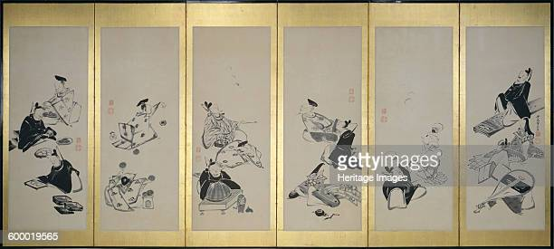 The ThirtySix Immortal Poets 1798 Found in the collection of Denver Art Museum Artist Jakuchu Ito