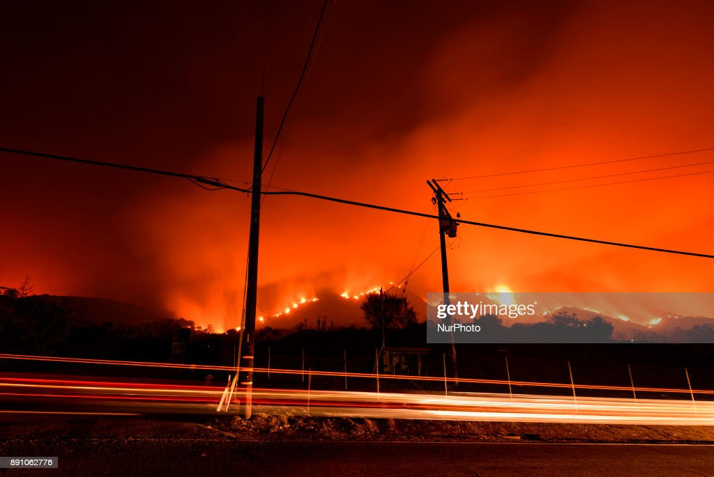 Thomas Fire Burns in Carpinteria, California