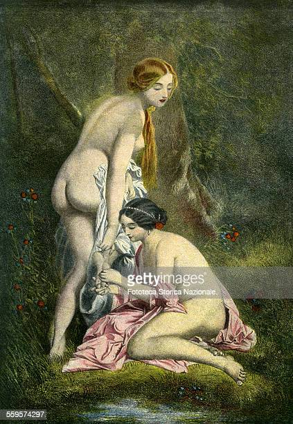The thorn Two friends take a bath naked on the shores of a lake one of them has the foot wounded by a thorn and the other helps her The thorn it...