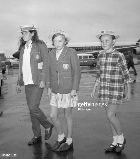 The three Ablett sisters Nicola Sara Lindsay and Susan Belinda at Heathrow Airport in London They were among the first patch of children who were...