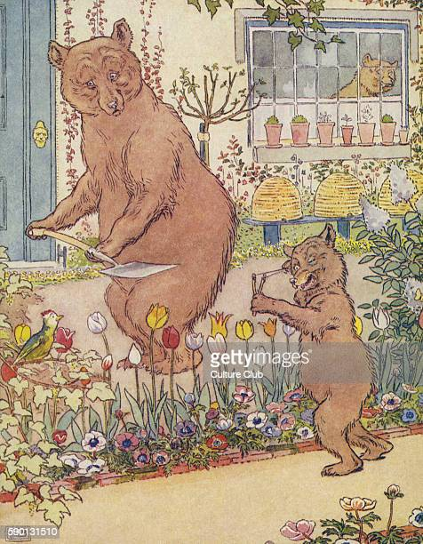 The Three Bears from The Golden Goose Book illustrated by Leonard Leslie Brooke
