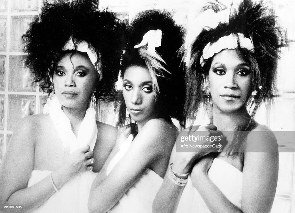 The three female singers the Pointer Sisters 1994