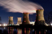 The Three Mile Island Nuclear Plant is seen in the early morning hours March 28 2011 in Middletown Pennsylvania Demonstrators gathered at the 32nd...