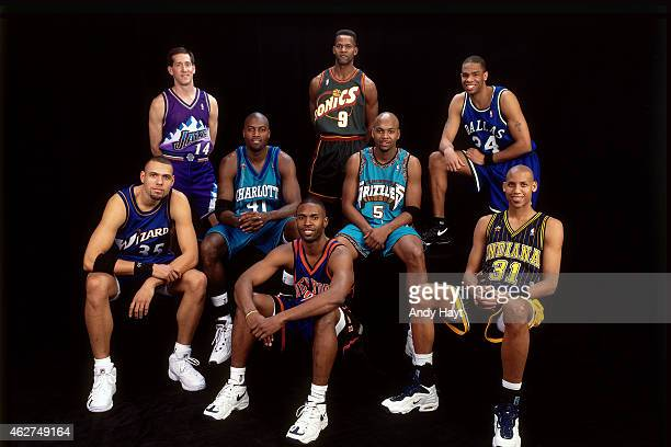 The Three Point shooters poses for a portrait during All Star Saturday Night as part of NBA AllStar Weekend on February 7 1998 in New York City NOTE...