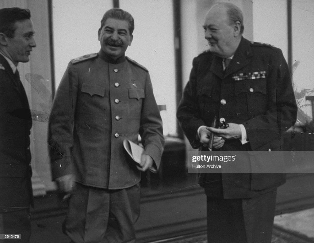 churchill stalin and roosevelt meet in yalta crimea