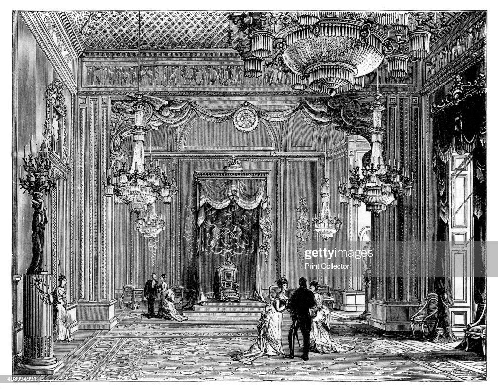 Throne room buckingham palace - The Throne Room Buckingham Palace 1900 The Official London Residence Of The British