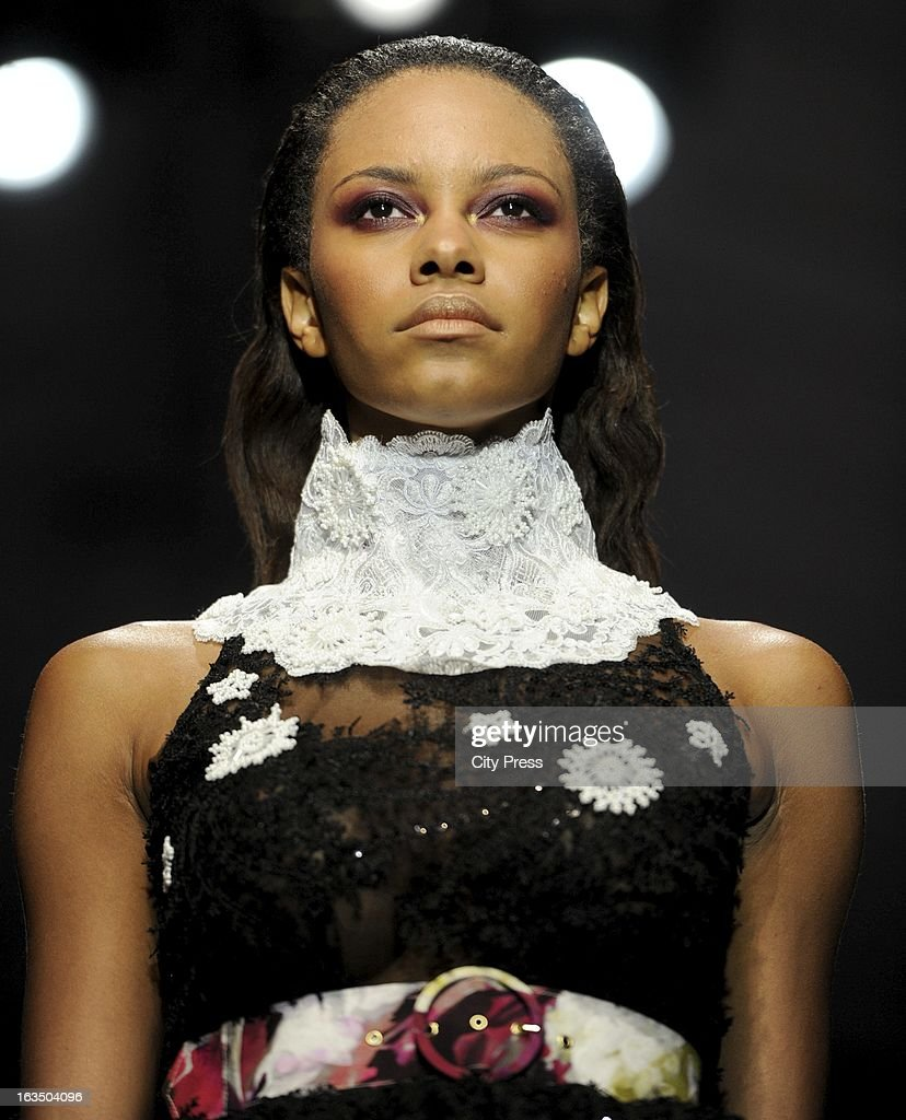 The Thula Sindi show at the Mercedes-Benz Fashion Week 2013 on March 8, 2013, in Johannesburg, South Africa.