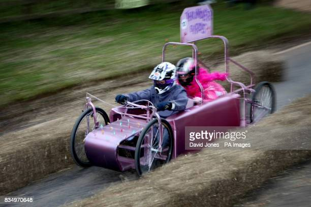 The 'Thunderbirds' team race through the chicane at the Hoar Cross Downhill soapbox competition The competition organised by the 'Mad Club' in aid of...