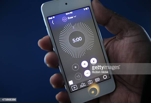 The Thync module attaches to a user's temple and is able to produce mood and energy altering feelings dialed in by the user on a smartphone...