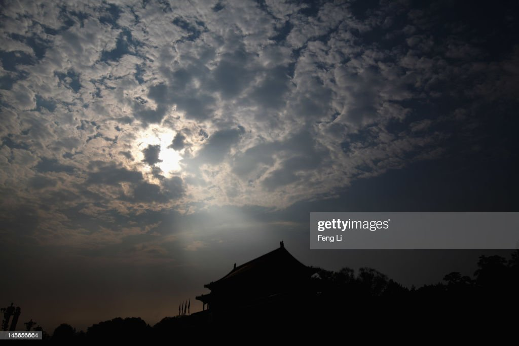 The Tiananmen Gate is seen under sunlight after a heavy rain on June 3, 2012 in Beijing, China.