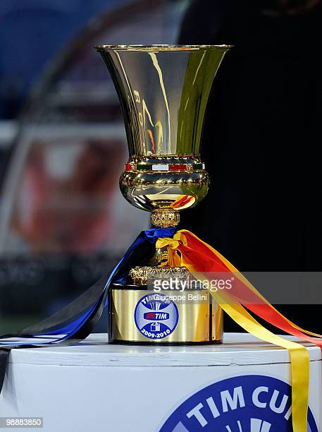 the Tim Cup between FC Internazionale Milano and AS Roma at Stadio Olimpico on May 5 2010 in Rome Italy