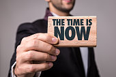 The Time is Now! sign