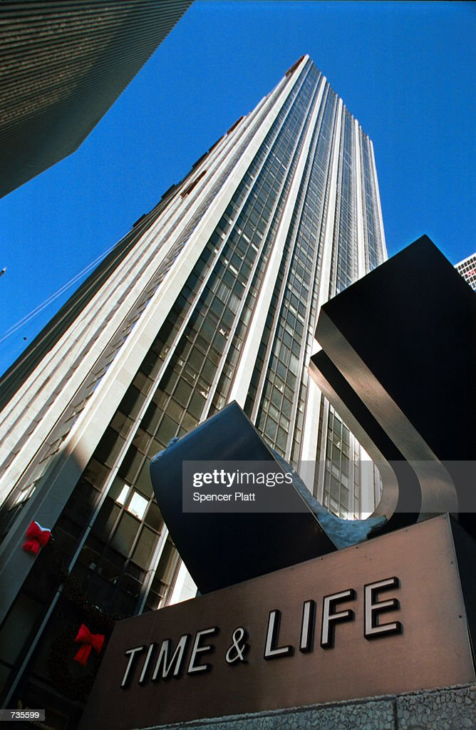 The Time Life Building looms high on the Avenue of the Americas January 3 2001 in New York City