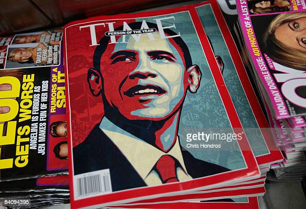 The Time magazine naming Barack Obama as Person of the Year sits at a news stand December 19 2008 in New York City