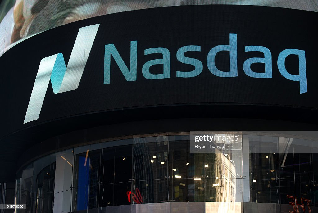 The Times Square NASDAQ MarketSite is seen on March 2 2015 in New York City The NASDAQ composite climbed over 5000 points for the first time in 15...