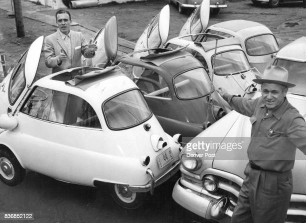 ISETTA 'MINICARS' EQUAL ONE PARKING SPACE The tiny Germanbuilt Isetta has reached the market in Metropolitan Denver Fifteen of the miniature autos...